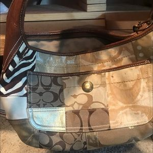 Coach patch work purse